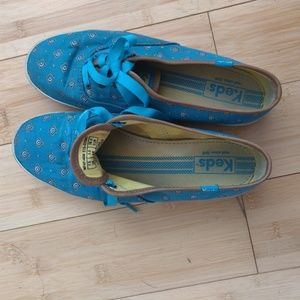 Teal Keds with Ribbon Laces